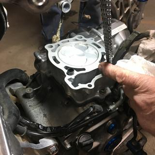 After installing the new piston
