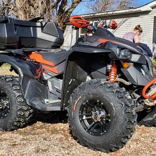 2020 can am renegade 1000r x xc. Went with 4/136mm and 5+2 offset. Makes my kenda htr's look mean