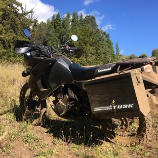 Tusk LARGE Panniers 2017 KLR650. Keeps the dirt out of your stuff!