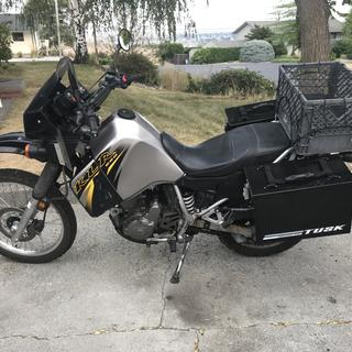 2007 Klr 650 fit good, you can also see new spring, the white one.