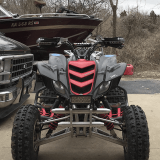 Tusk MX D flex atv handguards. Raptor 660