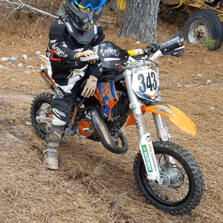 TUSK D-FLEX PROS MOUNTED ON A 2014 KTM 50sxs