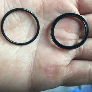 2003 KTM 450 MXC slave seal on left, Allballs version on the right.