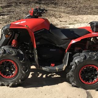 2017 Can Am Renegade 850 side view.