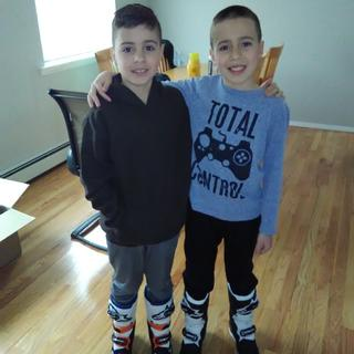 Tooker boys loving their new MX boots!