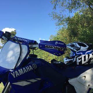 2000 YZ125 Tusk D-flex Handguards with MX Shields