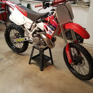 Fits Honda XR400R 1997-2004 Tusk Front Motorcycle Steel Braided Brake Line Standard Length Red
