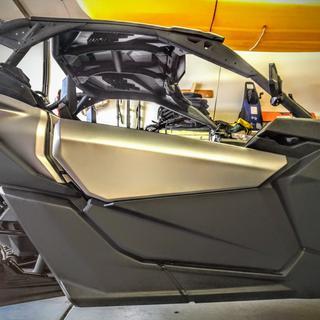 Can-Am lower door panels installed on Maverick X3 XRS.