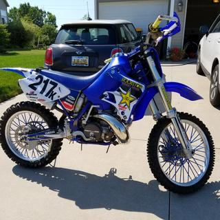"'01 YZ250 with FMF ""Gnarly"" pipe"