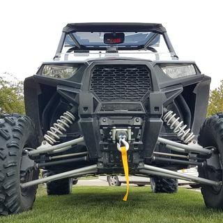 Close up: New tusk winch looks great on my RZR S 1000
