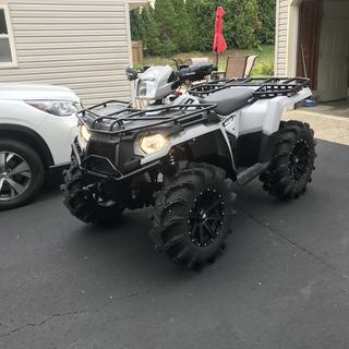 """450 with 28"""" cryptids and 14"""" msa m33 clutch wheels!"""