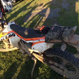 KTM bag after a 2 day 200 miles ride in the woods of Norther Wisconsin.