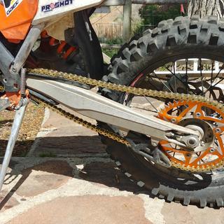 Dirt tricks front sprocket, Vortex rear, primary drive gold x-ring chain on 2016 KTM300xcw.