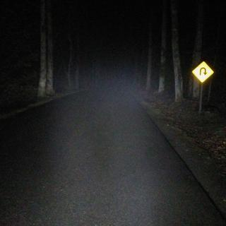Total darkness in the Smoky Mountain National Park, with Fog - Wow ! look at the visibility !!!