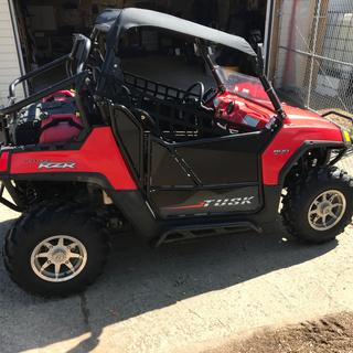 2008 RZR with Tusk doors installed.