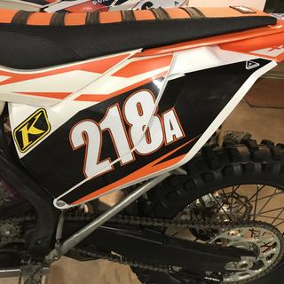 "Cut off the ""solid orange"" from the start (front) of the air box to the rear fender"