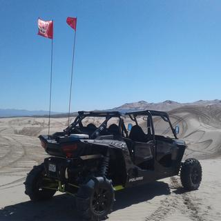 Stock cage chop with paddles at little Sahara sand dunes in Utah. Etc etc.