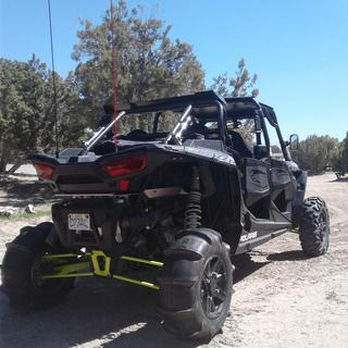 Pro armour 28x11x14 rear paddle tire on stock RZR wheels