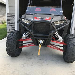 I have the tusk winch with the tusk eco front bumper... excellent combo and super stout