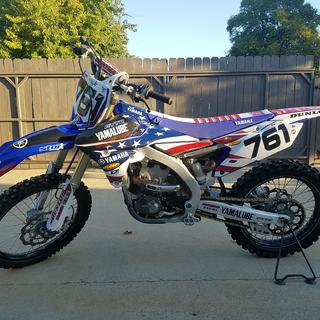 2014 yz450f with Impact Italic numbers.