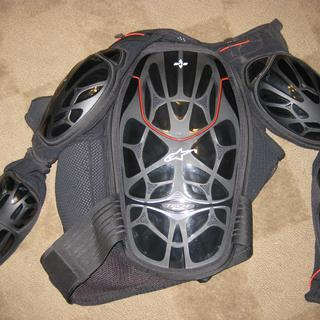 The back protection of suit