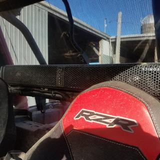 No vision block at all with the Polaris RZR XP1000 windscreen from Rocky Mountain ATV