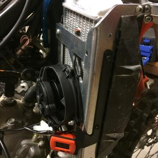 Needs some work to fit a KTM or Trailtech fan on it even though their website says fits OEM fan.