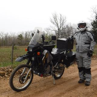 Me with full gear next to my 07 KLR 650