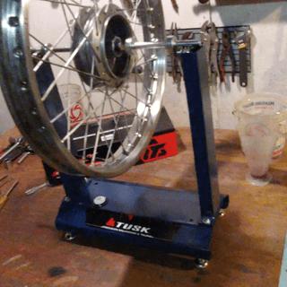 71 Hodaka Ace 100 front wheel. All trued up nice!