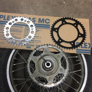 Comparison of 40,48,45 tooth sprockets.