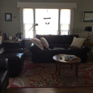 Beautiful sofa and matching recliner. We love them both