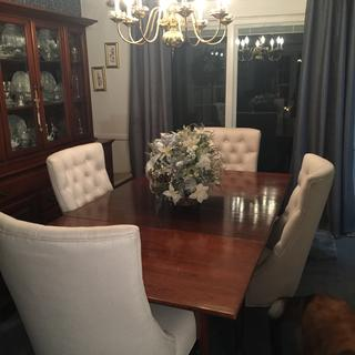 I am so pleased with my new chairs. I have had my solid cherry dining set for 56 years.