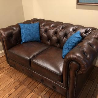 Hutchison love seat in our living room