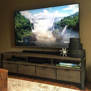 """Looks great with a 75"""" TV"""