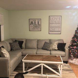 We love our new sectional! One side came broken but Raymour & Flanigan was quick to replace it!