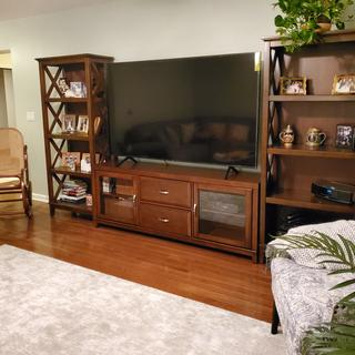 BEAUTIFUL BOOKCASE!!  Perfectly flanks our TV console and matches perfectly! Love the open ends!