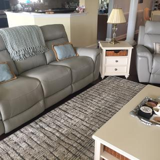 Our new recliner couch & reclining chair compliment our existing furniture & decor.
