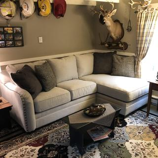 Love this sectional, very comfortable, well made, fits this space perfectly!