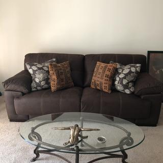 Nice sofa. Looks great. Wish it was alittle deeper but otherwise great.