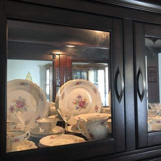 I am finally able to display my China.  The cabinet is perfect