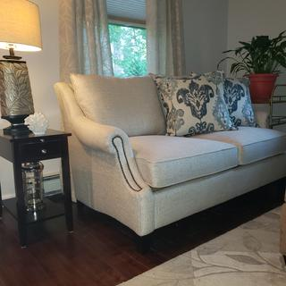 The love seat is a perfect fit for my small cape home.