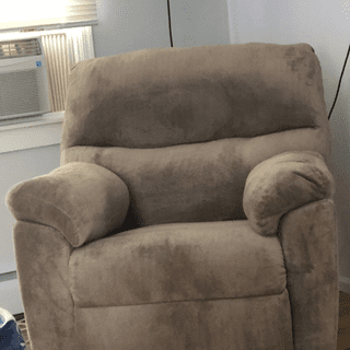 Love this chair! So comfortable, cozy. Feels like a big hug!