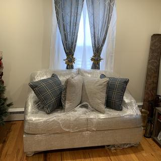 New beginning, new life and new furniture! Love my new sofa ??