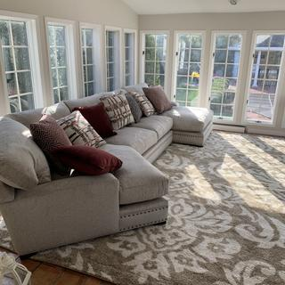 Absolutely love this sectional in our sunroom! The guys who came to deliver were amazing as well.