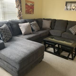 My new sectional from the Outlet. Love it.