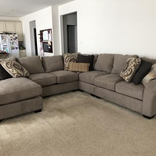 We love our new sectional! It's super comfy and seats a good number of people!! Service was great!!