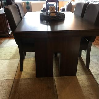 Very high quality, solid table, comfortable chairs... very true to website photos.
