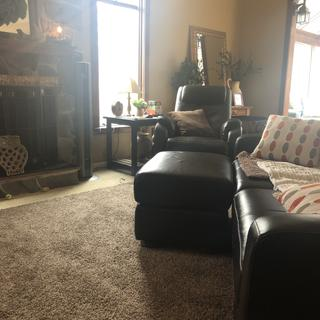 Loving the ottoman in our family room!