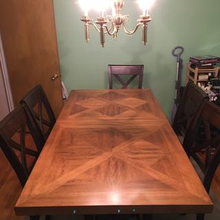 Love our new counter height dining room table!