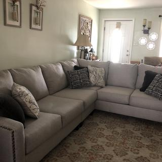 We are so happy with this set! It's very comfortable and makes our house look very nice. Recommended